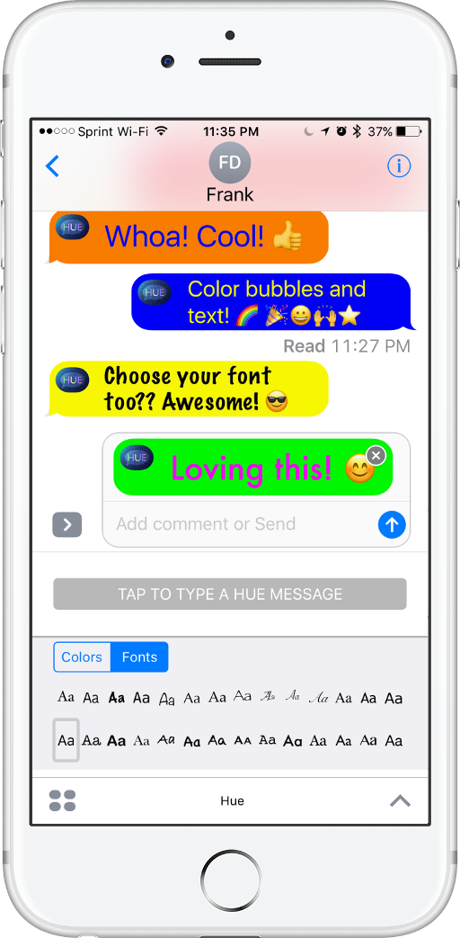 Color for Messages screenshot